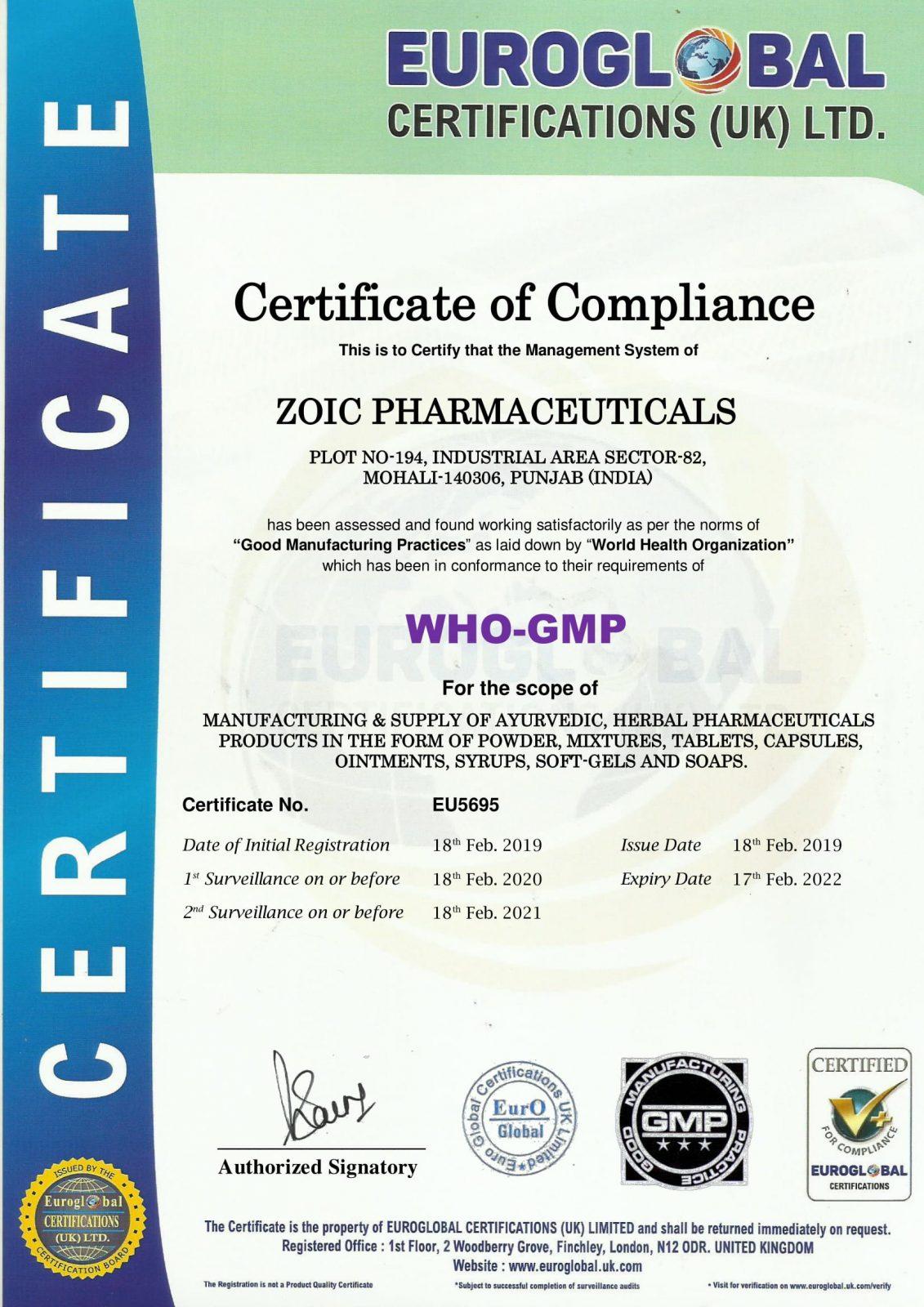 WHO-GMP-CERTIFICATE
